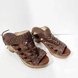 Freebird woven leather open toe sandal mules 8